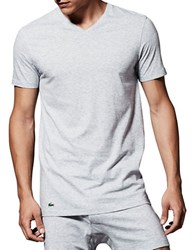 Lacoste Essentials Cotton V Neck Tee Pack Of 3 Grey