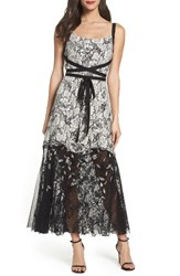 Sachin Babi Women's And Noir Rose Lace Gown