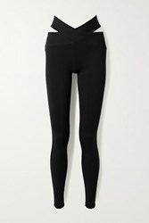 Live The Process Orion Cutout Stretch Supplex Leggings Black