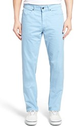 Peter Millar Men's Stretch Sateen Five Pocket Pants Tarheel Blue