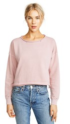 Amo Boxy Sweatshirt Rose Gold With Destroy