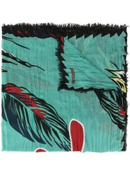 Zadig And Voltaire Delta Paradise Scarf Green