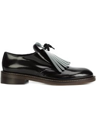 Marni Fringed Vamp Loafers Black