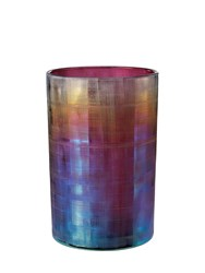 Pols Potten Oily Hurricane Meidum Candle Holder Purple