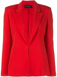 Brandon Maxwell Peaked Lapel Jacket Red