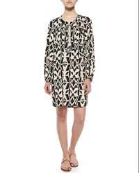 T Bags T Bags Tribal Print Shift Shirtdress Black White