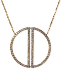 Effy Collection Geo By Effy Diamond Circle Pendant Necklace 2 Ct. T.W. In 14K Gold Yellow Gold