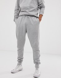 Bellfield Panelled Cotton Joggers In Grey