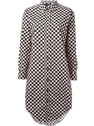 Love Moschino Check Pattern Shirt Dress Black