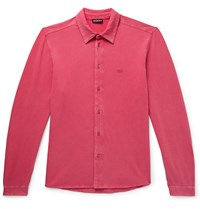 Balenciaga Slim Fit Stretch Cotton Jersey Shirt Pink
