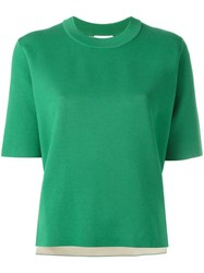 Dkny Reversible Knit Top Green