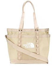 The North Face Logo Print Tote Bag Neutrals