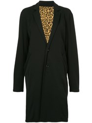 Hysteric Glamour Oversize Single Breasted Coat Black