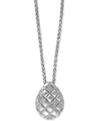 Effy Collection Effy Balissima Diamond Accent Teardrop Pendant Necklace In Sterling Silver