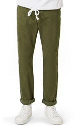 Topman Men's Standard Fit Chinos Olive