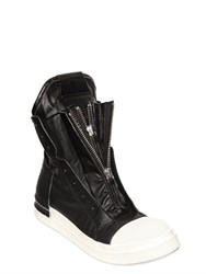 Cinzia Araia Rubberized Canvas Zip High Top Sneakers