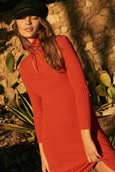 Urban Outfitters Uo Carmen Zip Up Sweater Mini Dress Red