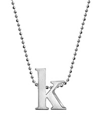 Alex Woo Sterling Silver Little Letter A Necklace 16 Silver K