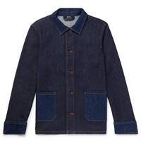 A.P.C. Cotton Blend Denim Chore Jacket Indigo