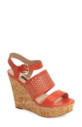 Women's French Connection 'Devi' Platform Wedge Sandal 4 1 2' Heel