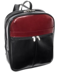 Mcklein Edison 20 Leather Laptop Backpack Black Red