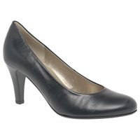 Gabor Lavender Cone Heeled Court Shoes Black