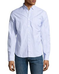 Dl Bowery Bleecker Pinstripe Shirt White Blue