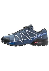Salomon Speedcross 4 Trail Running Shoes Slate Blue Black Blue Yonder