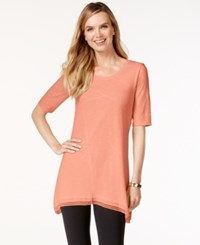 Styleandco. Style And Co. Lace Trim Tunic Top Only At Macy's Pink Pinata