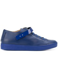 Giuseppe Zanotti Design Patent Strap Low Top Sneakers Blue