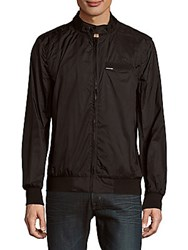Members Only Long Sleeve Front Zip Jacket Black