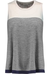 Autumn Cashmere Colorblock Sweater Gray