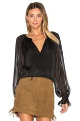 L'academie The Boho Top Black