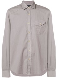 Belstaff Chest Pocket Shirt Grey