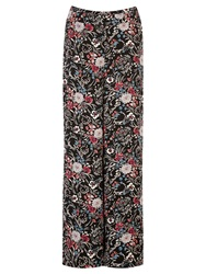 Warehouse Folk Floral Wide Leg Trousers Multi