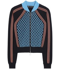 Versace Wool Blend Sweater Blue