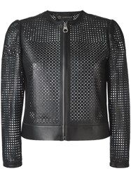 Versace Laser Cut Jacket Black