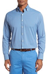Peter Millar Men's Regular Fit Check Sport Shirt Mediterranean