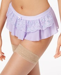 Maidenform Extra Sexy Floral Lace Skirted Thong Dm1123 A Macy's Exclusive Style Lavender Aruba Blue Cross Dye
