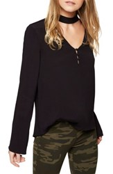 Sanctuary Women's Raven Choker Top Black