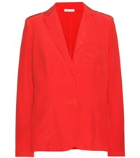 Tomas Maier Silk Blazer Red