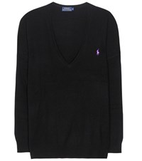 Polo Ralph Lauren Embroidered Wool Sweater Black