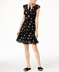 Maison Jules Embroidered Lace Fit And Flare Dress Created For Macy's Black Combo