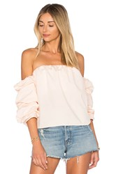 L'academie X Revolve The Puff Sleeve Blouse Pink