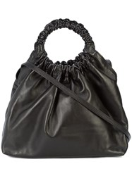 The Row Double Circle Tote Bag Black