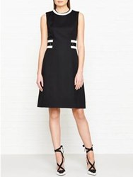 Hobbs Jacquie Tipped Dress Black Ivory