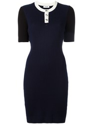 Courreges Knitted Dress Blue