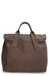 Pedro Garcia Zip Flap Leather Tote Grey Fox Cervo