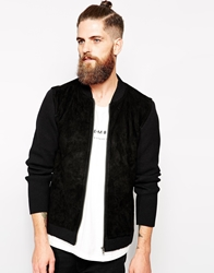 Dr. Denim Dr Denim Bomber Jacket With Suede Black