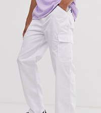 Reclaimed Vintage Cargo Trousers White